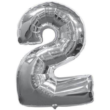 Воздушный шар цифра 2