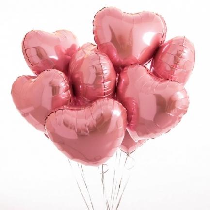 Набор розовых сердец