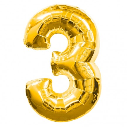 Воздушный шар цифра 3