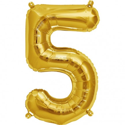 Воздушный шар цифра 5